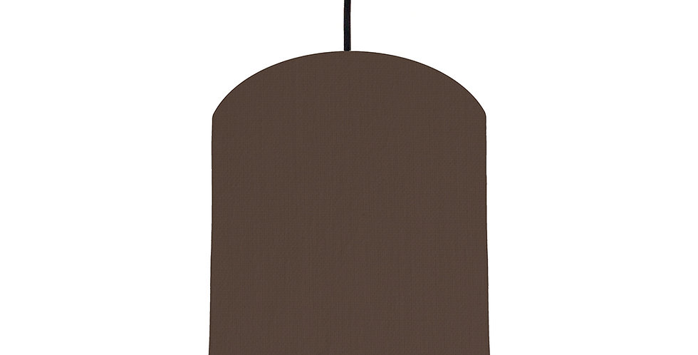 Brown & Ivory Lampshade - 20cm Wide