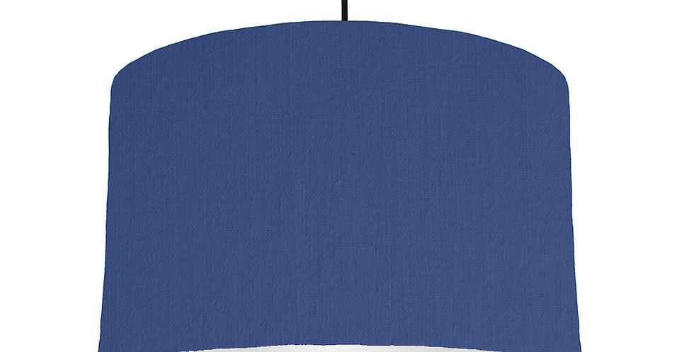 Royal Blue & Light Grey Lampshade - 40cm Wide