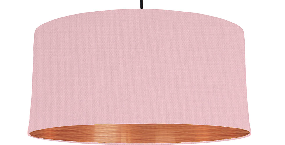 Pink & Brushed Copper Lampshade - 60cm Wide