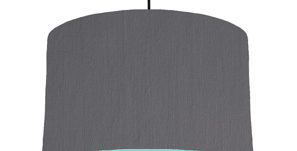 Dark Grey & Mint Lampshade - 40cm Wide
