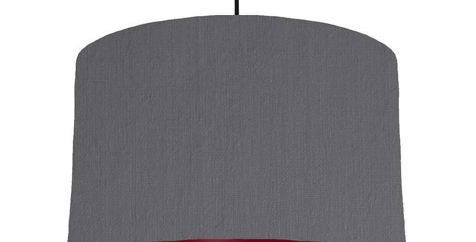 Dark Grey & Burgundy Lampshade - 40cm Wide