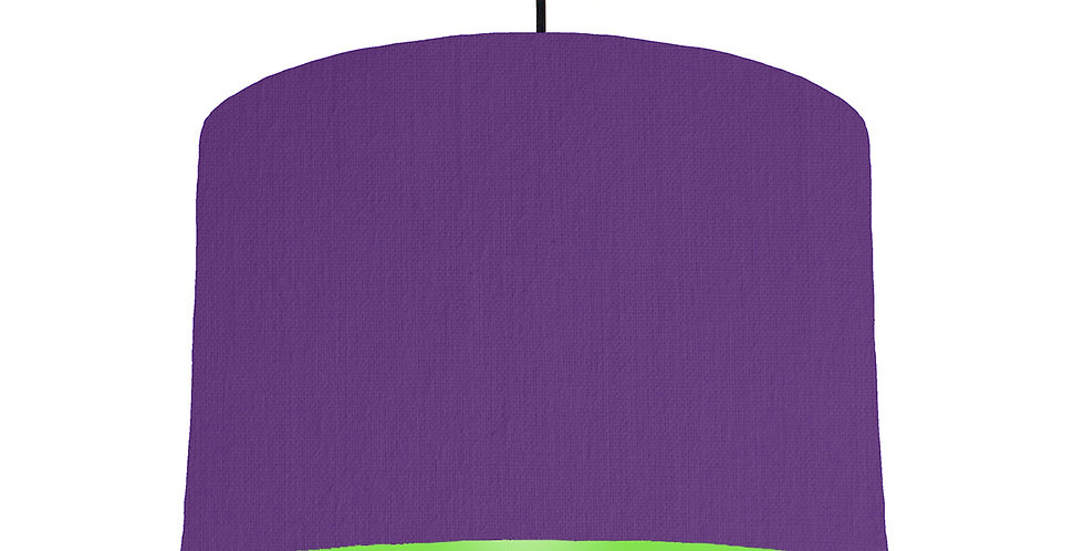 Violet & Lime Green Lampshade - 30cm Wide