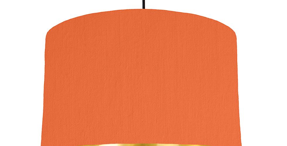 Orange & Gold Mirrored Lampshade - 40cm Wide