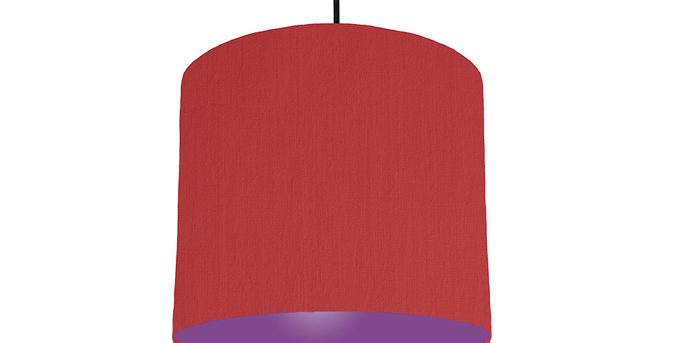 Red & Purple Lampshade - 25cm Wide