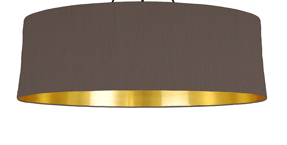 Brown & Gold Mirrored Lampshade - 100cm Wide