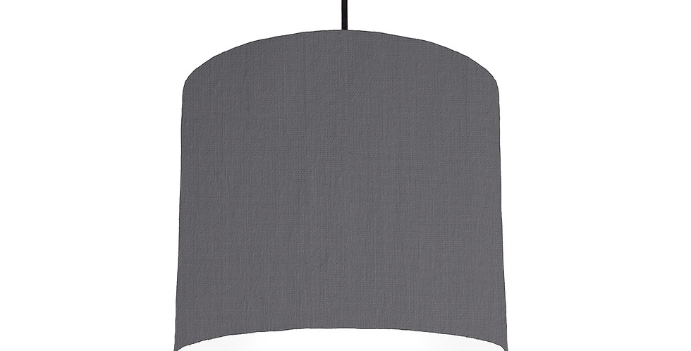 Dark Grey & White Lampshade - 25cm Wide