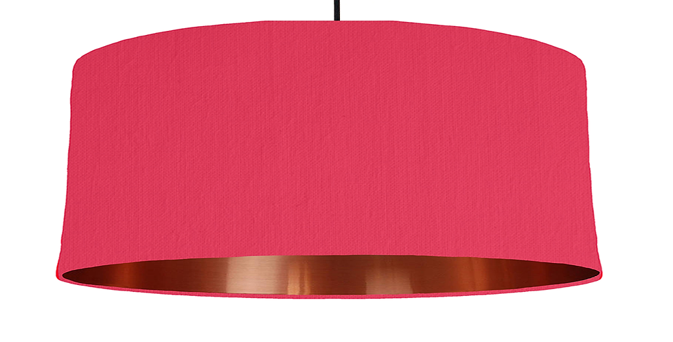Cerise & Copper Mirrored Lampshade - 70cm Wide