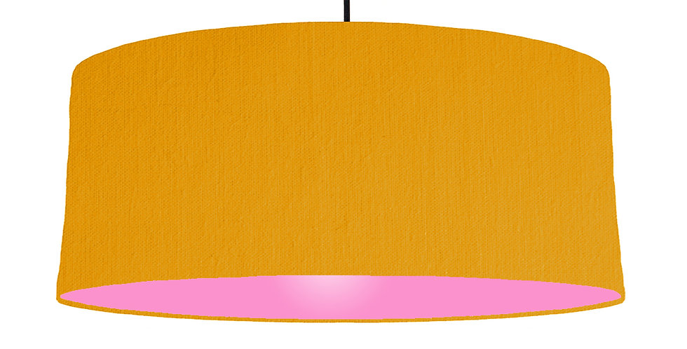 Mustard & Pink Lampshade - 70cm Wide