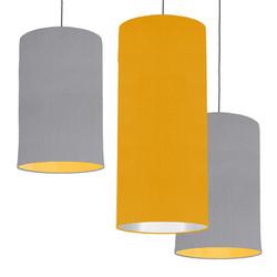 Grey & Mustard Lampshades
