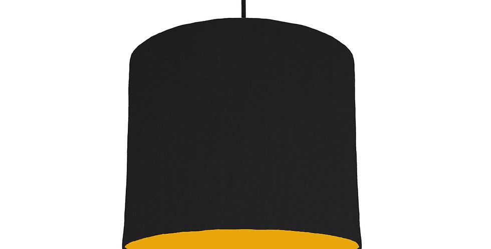 Black & Mustard Lampshade - 25cm Wide