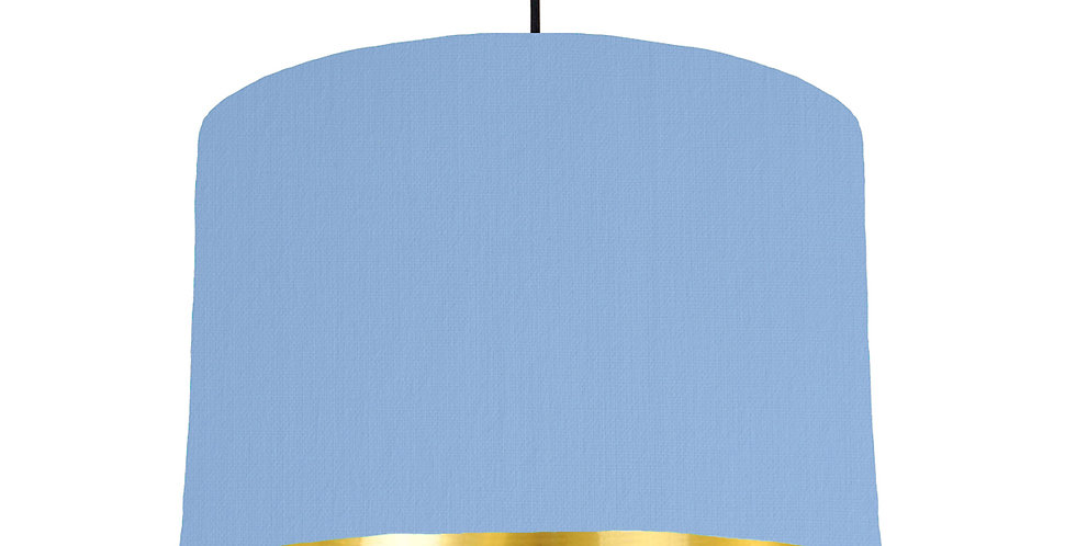 Sky Blue & Gold Mirrored Lampshade - 30cm Wide