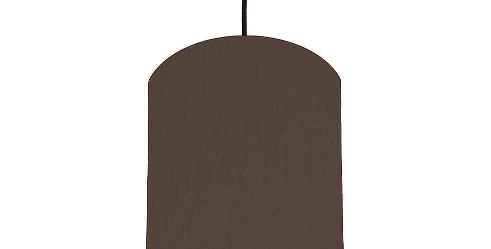 Brown & Black Lampshade - 20cm Wide