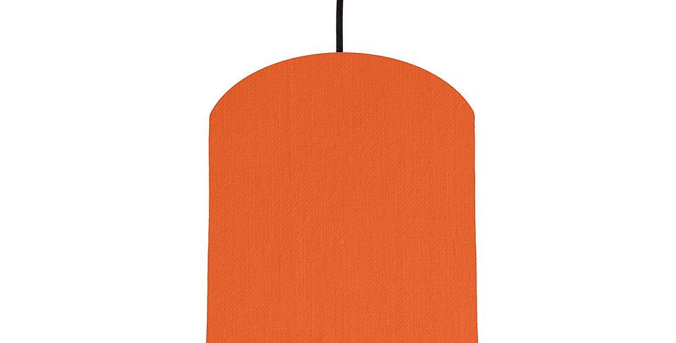 Orange & Black Lampshade - 20cm Wide