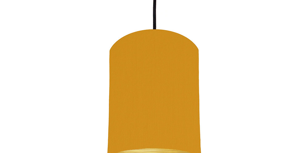 Mustard & Brushed Gold Lampshade - 15cm Wide
