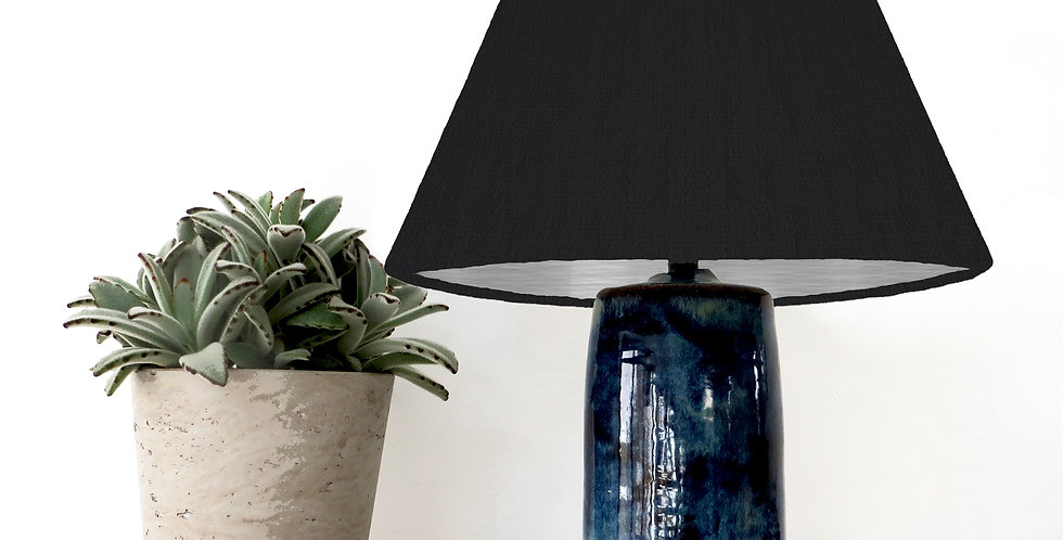 Conical Lampshade (15Tx45Bx30H) - Brushed Silver Lining