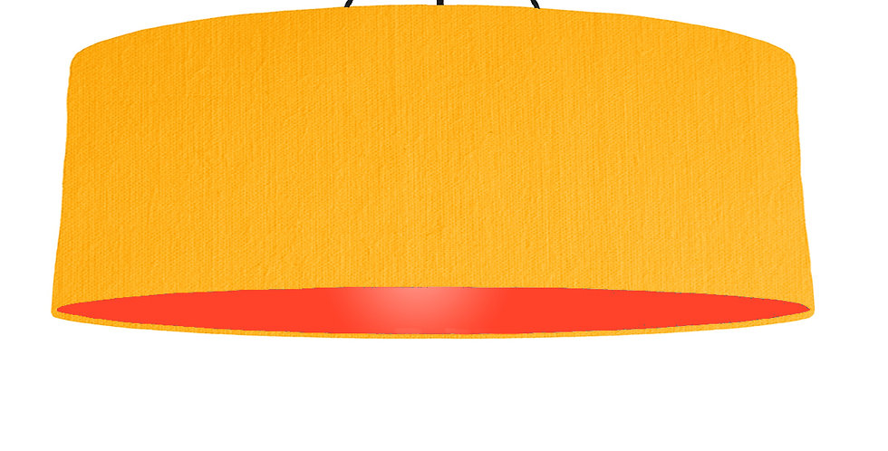 Sunshine & Poppy Red Lampshade - 100cm Wide