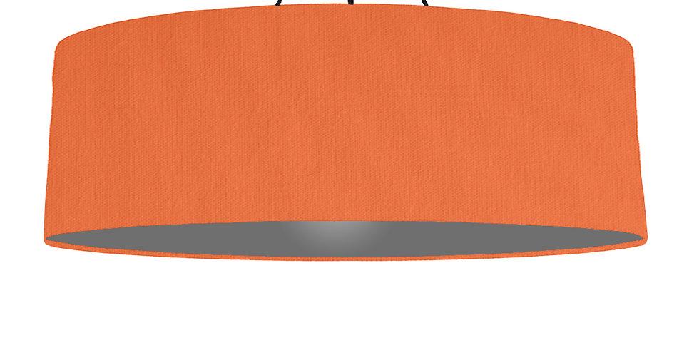 Orange & Dark Grey Lampshade - 100cm Wide