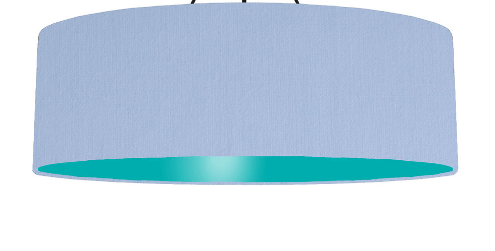 Sky Blue & Turquoise Lampshade - 100cm Wide