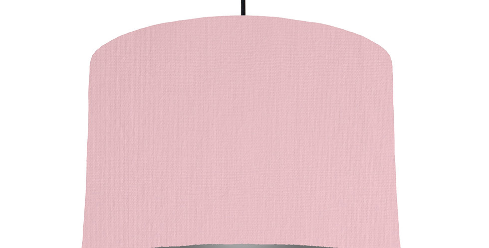 Pink & Dark Grey Lampshade - 30cm Wide