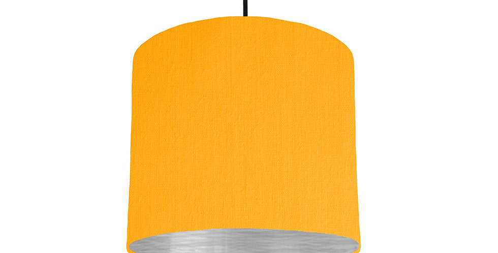 Sunshine & Brushed Silver Lampshade - 25cm Wide