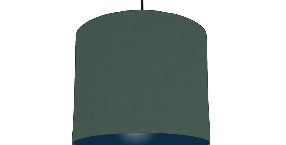 Bottle Green & Navy Lampshade - 25cm Wide