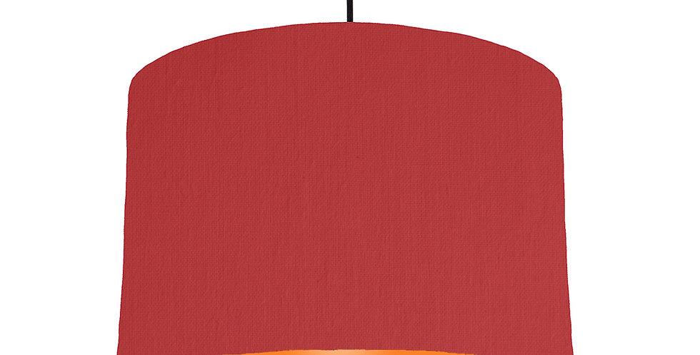 Red & Orange Lampshade - 30cm Wide
