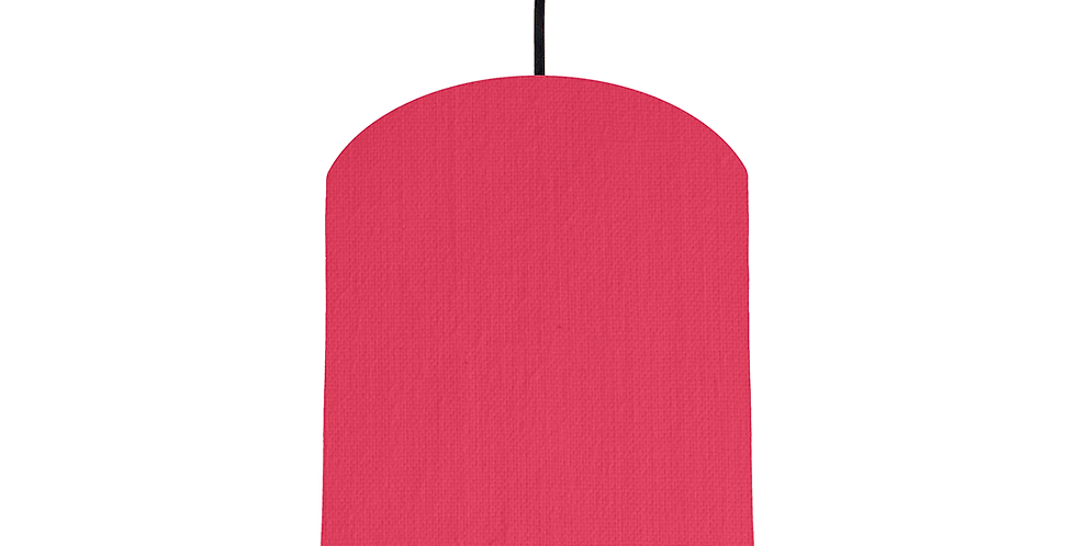 Cerise & Gold Mirrored Lampshade - 20cm Wide