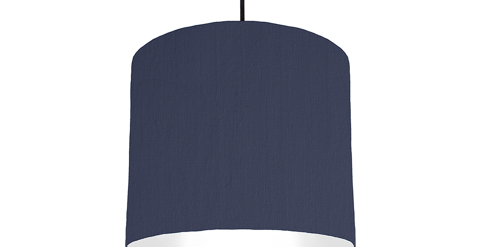 Navy & White Lampshade - 25cm Wide