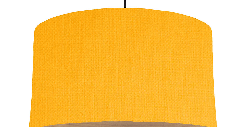 Sunshine & Wooden Lined Lampshade - 50cm Wide