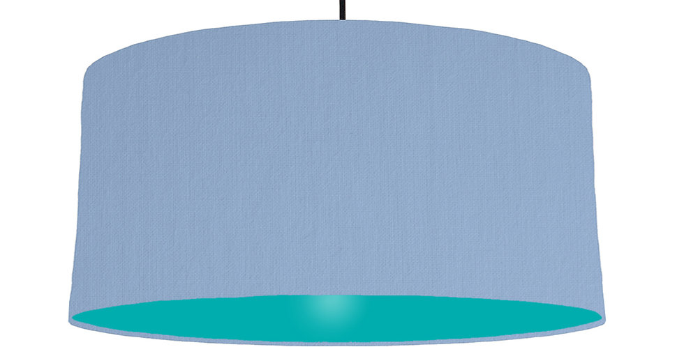Sky Blue & Turquoise Lampshade - 60cm Wide