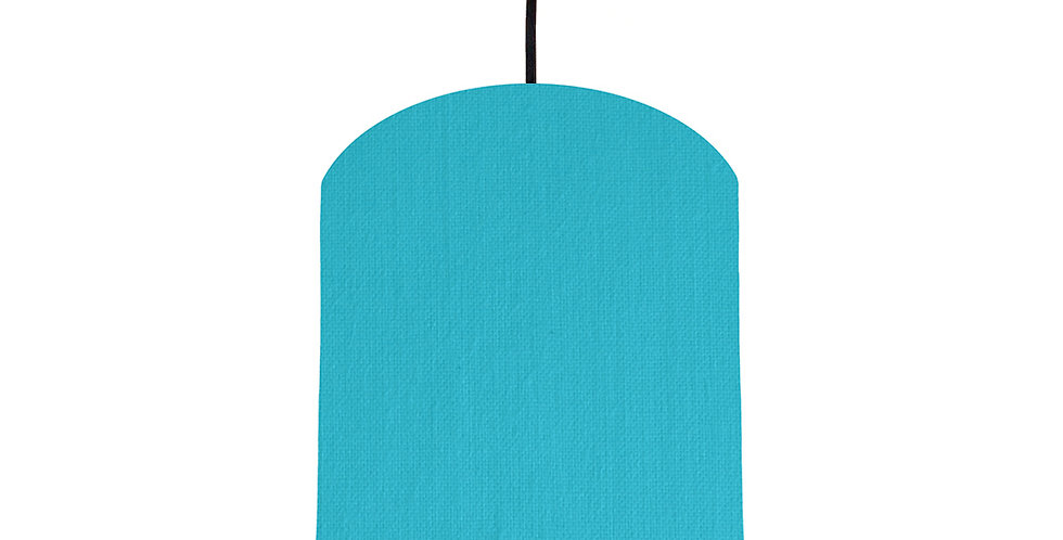 Turquoise & Gold Matt Lampshade - 20cm Wide