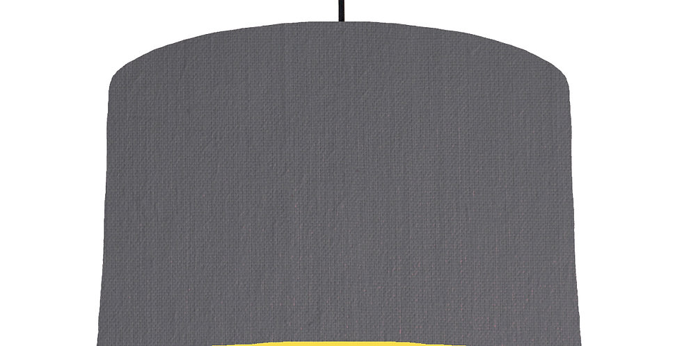 Dark Grey & Butter Yellow Lampshade - 40cm Wide