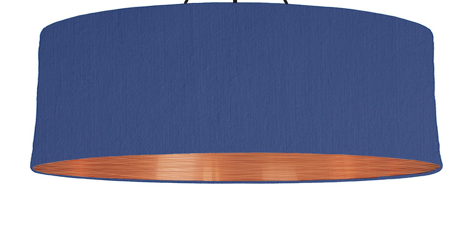 Royal Blue & Brushed Copper Lampshade - 100cm Wide