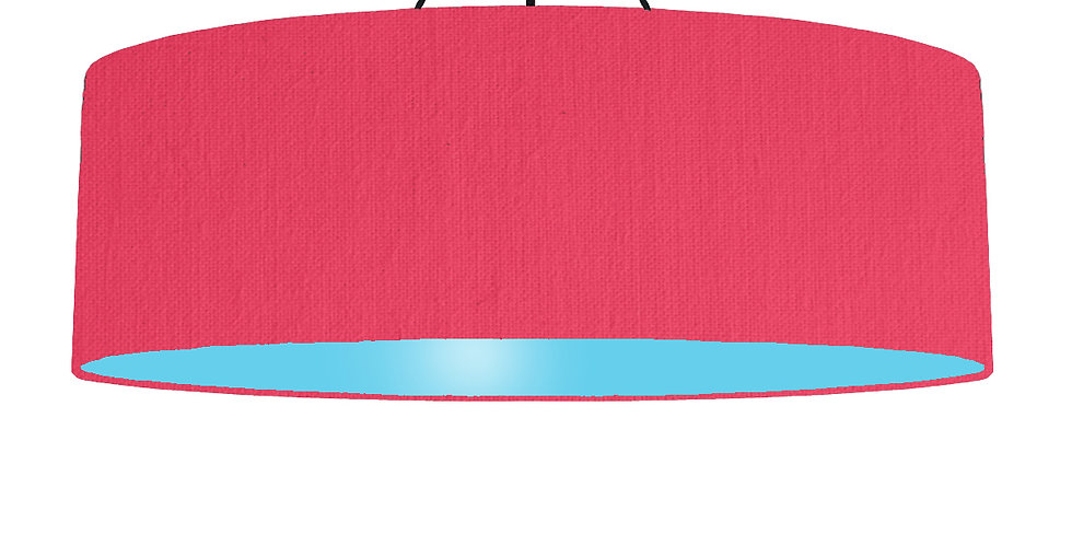 Cerise & Light Blue Lampshade - 100cm Wide