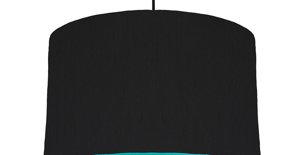 Black & Turquoise Lampshade - 40cm Wide
