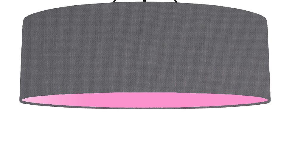 Dark Grey & Pink Lampshade - 100cm Wide