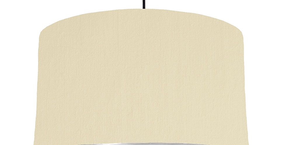Natural & Brushed Silver Lampshade - 50cm Wide