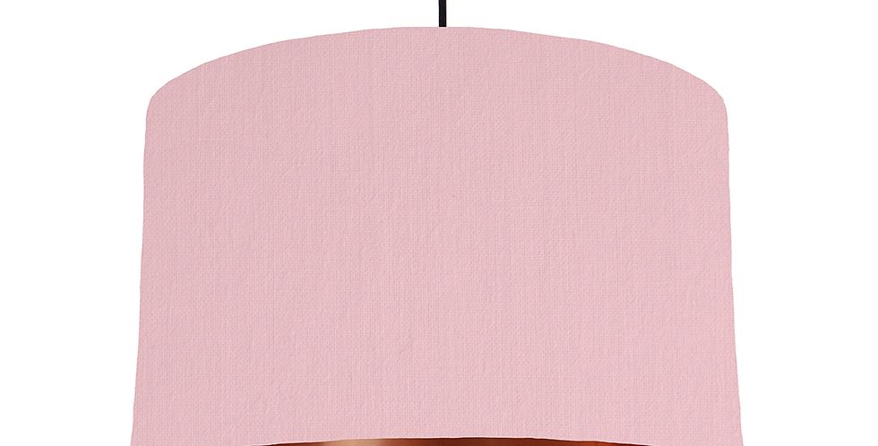 Pink & Copper Mirrored Lampshade - 40cm Wide