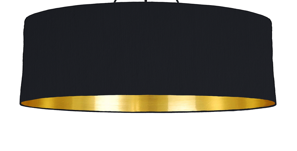 Black & Gold Mirrored Lampshade - 100cm Wide