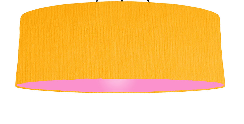 Sunshine & Pink Lampshade - 100cm Wide