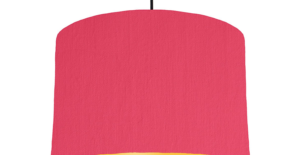 Cerise & Butter Yellow Lampshade - 30cm Wide