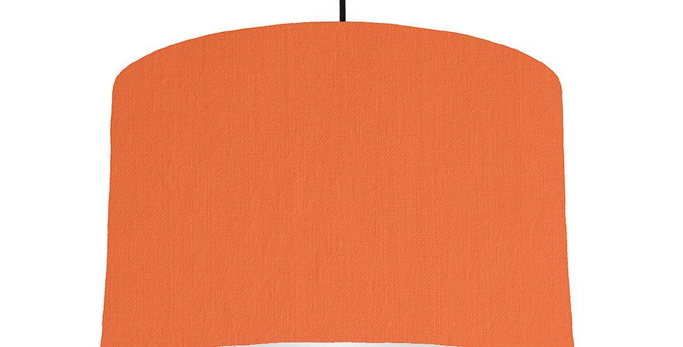 Orange & Light Grey Lampshade - 40cm Wide