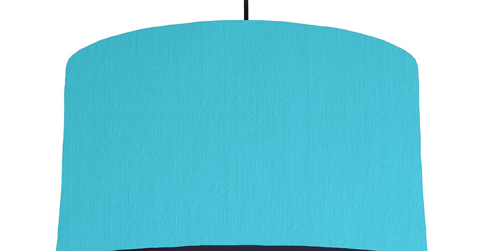 Turquoise & Navy Lampshade - 50cm Wide