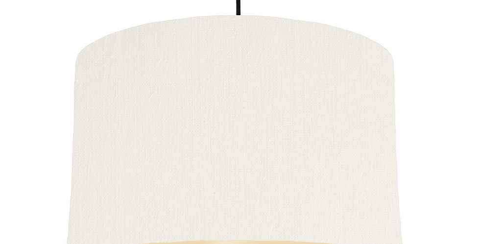 White & Ivory Lampshade - 40cm Wide