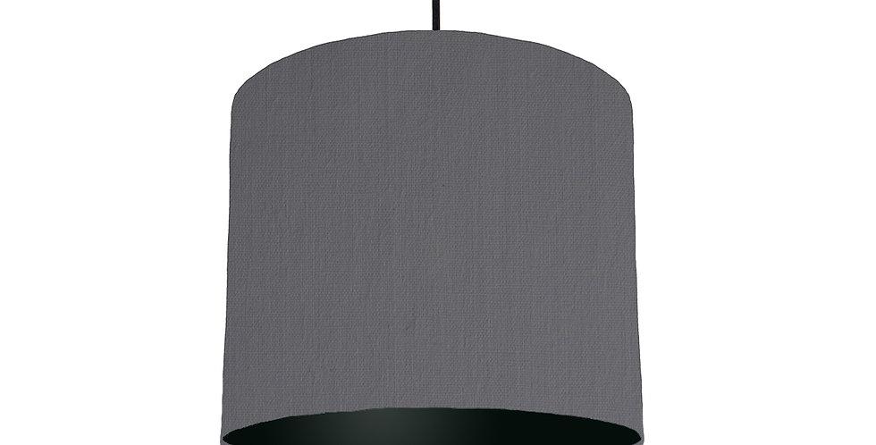 Dark Grey & Black Lampshade - 25cm Wide