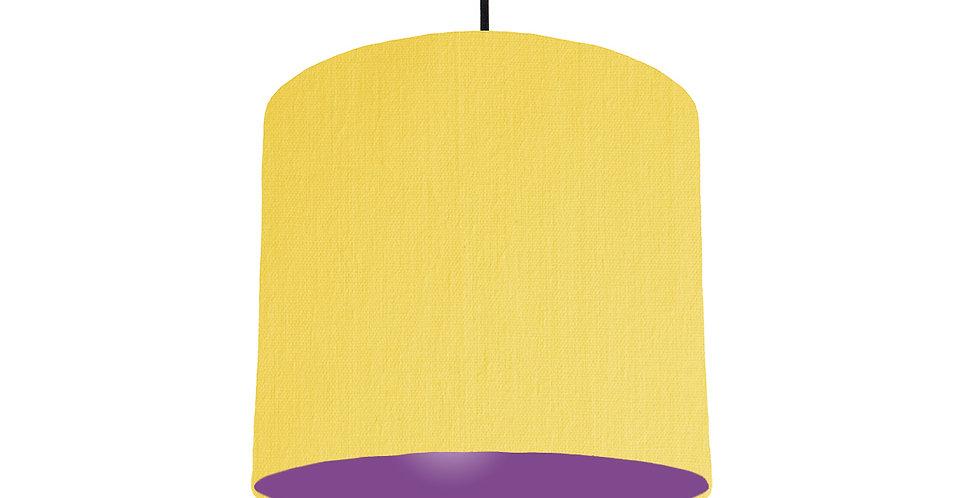 Lemon & Purple Lampshade - 25cm Wide