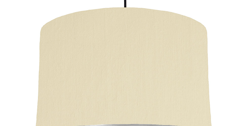 Natural & Brushed Silver Lampshade - 40cm Wide
