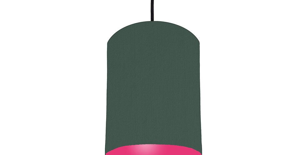 Bottle Green & Magenta Pink Lampshade - 15cm Wide