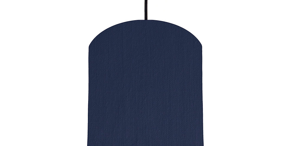 Navy Blue & Light Grey Lampshade - 20cm Wide