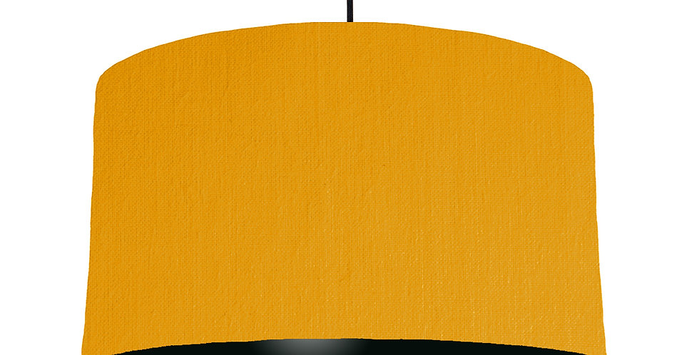 Mustard & Black Lampshade - 50cm Wide
